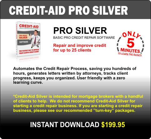 Credit-Aid Silver - Professional Credit Repair Software for Business