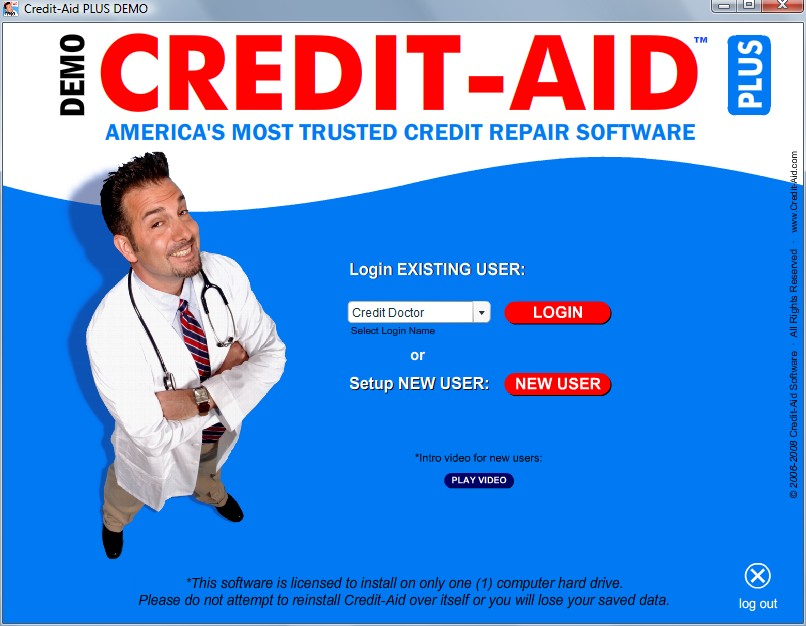 Click to view Credit-Aid Plus Credit Repair Software 6.0.1 screenshot